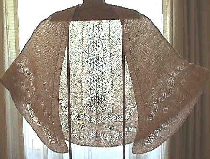 Free Knitting Pattern - Silky Alpaca Lace Shawl from the Lace