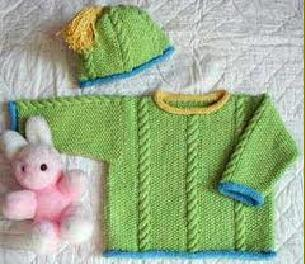 Free Knitting Patterns For Baby Weight Yarn : DK WEIGHT BABY SWEATER PATTERN Sewing Patterns for Baby